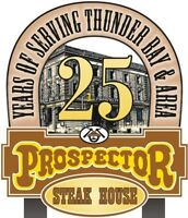 Prospector Steakhouse - Cooks, Dishwashers, & Salad Prep Wanted