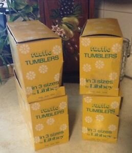 VINTAGE COUNTRY GARDEN.VTG RUSTIC TUMBLERS IN 3 SIZES BY LIBBEY. Gatineau Ottawa / Gatineau Area image 10