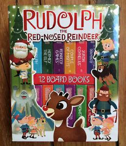 Box Set of 12 RUDOLF Mini Board Books $10