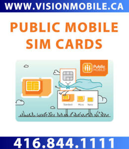 PUBLIC MOBILE SIM CARDS - IN STOCK TODAY - 416-844-1111