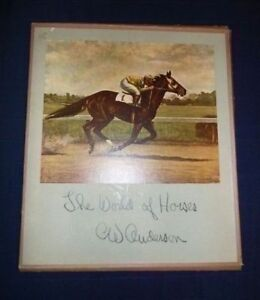 The World Of Horses portfolio set of 8 pictures - C.W. Anderson