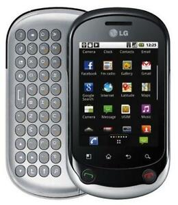 LG OPTIMUS CHAT C555 ANDROID CHATR FIDO TELUS BELL PUBLIC MOBILE 3G GSM TOUCHSCREEN CAMERA 2MP VIDEO BLUETOOTH RADIO