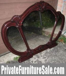 Extra Large triple Italian Mirror, cherry color in great conditi