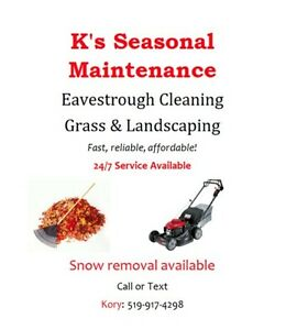 EAVESTROUGH cleaning & GRASS cutting