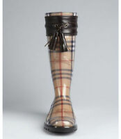 AUTHENTIC GENUINE BURBERRY RAIN BOOTS VRAI BOTTES