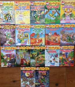 LIKE NEW GERONIMO STILTON BOOKS $4 each, 3 for $10, 17 for $40