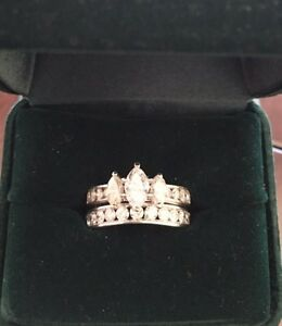 Ladies 2ct. Marquise Diamond Engagement Ring & Band