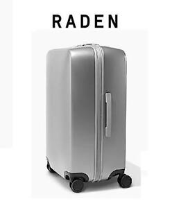 """NEW RADEN CHECK-IN LUGGAGE 28"""" A28 SPINNER - LUGGAGE - SUITCASE - SILVER MATTE 105959853"""