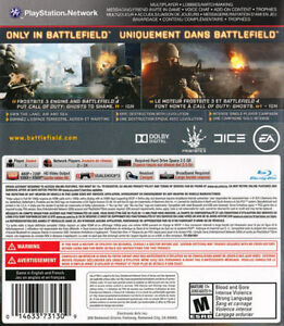 PS3 Battlefield 4 Game For Sale Cornwall Ontario image 2