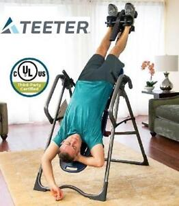NEW TEETER INVERSION TABLE EP-960 EP-960 189308888 LTD WITH BACK PAIN RELIEF KIT