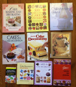 Collection of CAKE DECORATING BOOKS 10 for $20