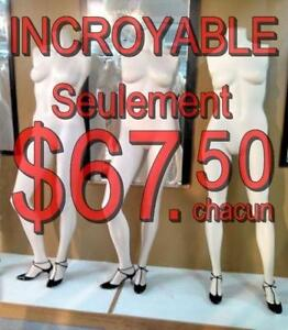 PRIX INCROYABLE $ 67,50 ~ MANNEQUIN ~ CORPS ENTIER ~ SANS DES BRAS / FULL BODY FEMALE MANNEQUIN ~ WITHOUT ARMS