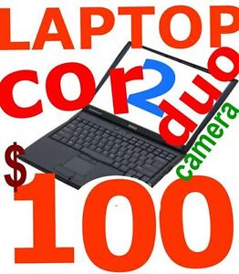 laptop dual core avec integreaated with camera  win7 80$-100$