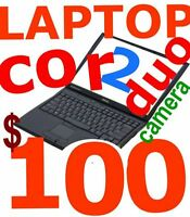 LAPTOP CORE2DUO 2GB/3GB 8OGB/160GB DVDRW WIN7 WIFI ET CAMERA