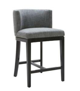 LEATHER N FABRIC BAR STOOLS KITCHEN COUNTER STOOL WITH BACK SWIVEL STOOLS, BACKLESS BARSTOOLS