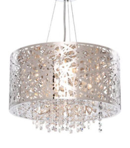 New mirrored stainless steel chandelier pendant for sale