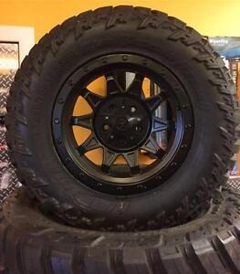 "Kit baja jeep 5 pneus 5 mag 5x127 17""x8.5  -6 offset neuf 1800$"
