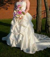 IVORY WEDDING DRESS, SIZE 14 - REDUCED