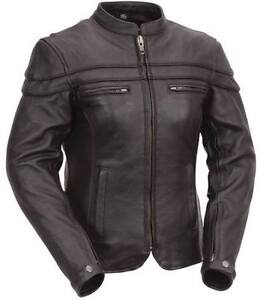 Woman's leather motorcycle jacket (with zip out thermal liner)