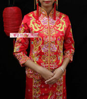 ****NEW Traditional Chinese Wedding Gown Red Dress (Qipao)****