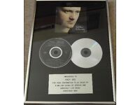 Phil Collins genuine record industry sales award Virgin Records
