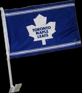 2 Toronto Maple Leafs NHL Car Flags HIGH QUALITY