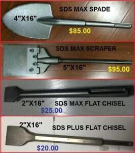 Chisels, Scrapers, Clay Spade,Rotary Hammer SDS max, SDS plus