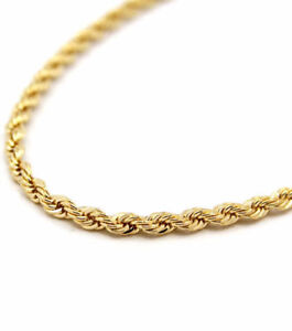Gold plated rope chain brand new / Chaine plaquée or neuve
