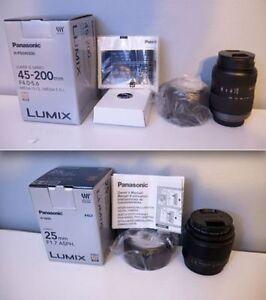 2 Panasonic Micro Four Thirds Lenses