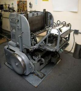 PRINTING EQUIPTMENT - LETTERPRESS & OFFSET