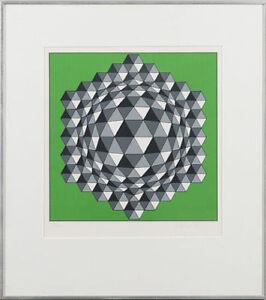 Victor Vasarely original print 1982  Sérigraphie originale