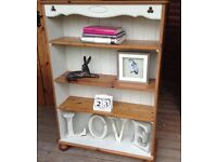 Pine painted bookcase shabby chic