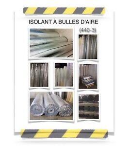 (440-3)  ISOLANT À BULLES D'AIR 0.08$ /PC  À 24.00$ /ROULEAUX