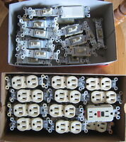 Electrical Wall Switches & Duplex Recepticles, USED