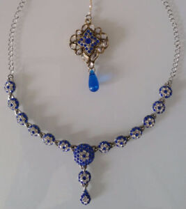 BRAND NEW Indian Costume Jewelry Necklace + Tikka. Only $15.