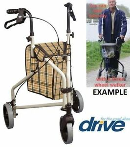 NEW DRIVE MEDICAL WINNIE LITE SUPREME 3 WHEEL ROLLATOR