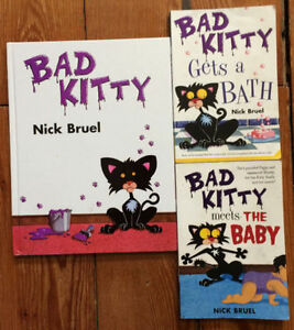 BAD KITTY books by Nick Bruel 3 for $10