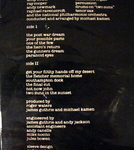 Pink Floyd *The Final Cut* 1983 QC38243 Canada 1st Press Sealed Stratford Kitchener Area image 6