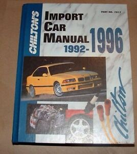 Car manual chiltons repair book 92-96