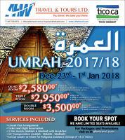 AHW Travel & Umrah 2017 /2018 | NICOP Tours Ltd. -