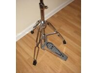 Vintage Chromed Pearl HI Hat Cynbal Tripod Stand With Clutch Pedal.
