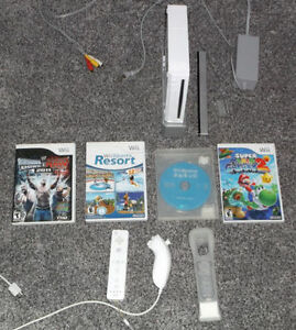 NINTENDO WII SYSTEM + CONTROLLERS & GAMES * 100% TESTED London Ontario image 1