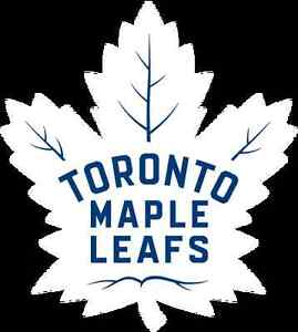 Leafs tickets hardcopy face value (Greens section 312 row 7)
