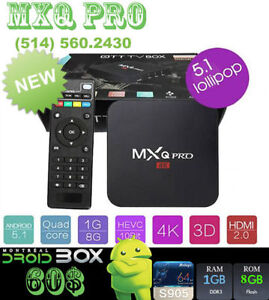 MXQ PRO ANDROID SMART TV BOX QUADCORE xS905 1GB RAM 8GB ROM