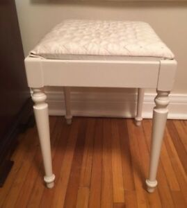 Antique Creamy Beige 4-footed Side Table/Stool - $80