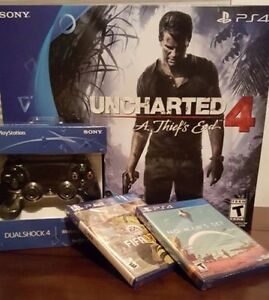 PS4 Slim 500GB Uncharted 4 - Two extra games included