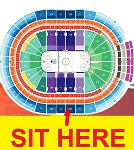 Oilers - Section 202 Row 4 - Upper Center Ice Great View Edmonton Edmonton Area image 2