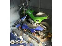 Kids mini motorcycle and qwad bike