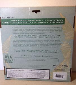 **NEW IN BOX** Acu-rite designer edition indoor & outdoor clock Cambridge Kitchener Area image 4