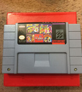 Super Nintendo Games 5 in 1 - Bomberman 1,2, Adventure Island 1